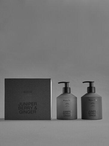 (250ml) Juniper Berry & Ginger gel eta esku- eta gorputz-krema paketea