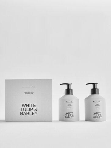 (250ml) White Tulip & Barley gel eta esku- eta gorputz-krema paketea