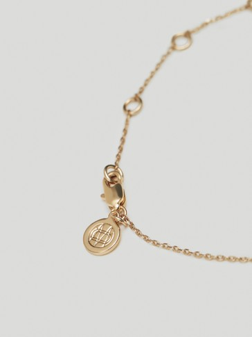 Gold-plated sterling silver Forever necklace