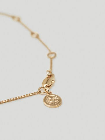 Gold-plated heart necklace