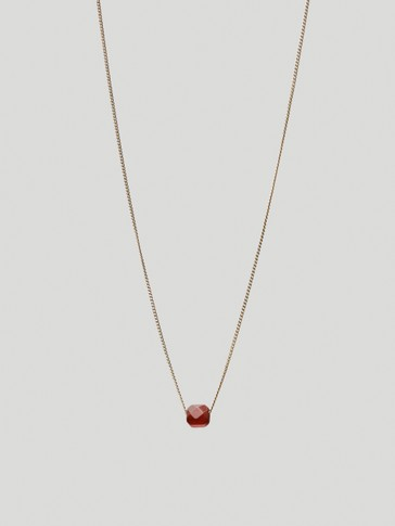 Gold-plated January stone necklace