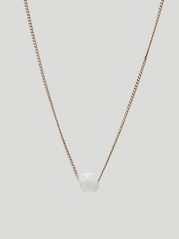 Gold-plated April stone necklace