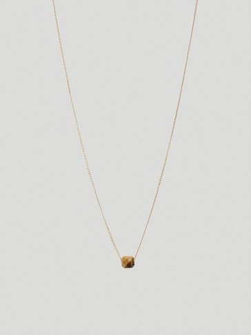 Gold-plated November stone necklace