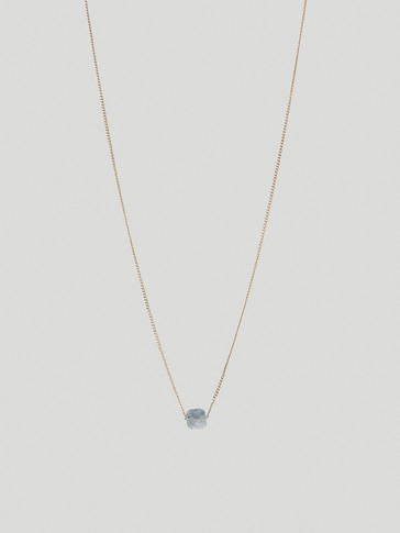 Gold-plated December stone necklace