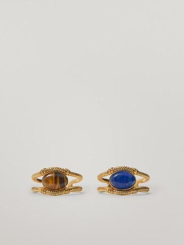 Gold-plated tiger eye stone bracelet