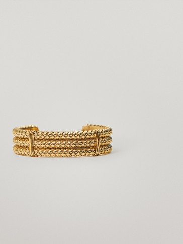 Gold-plated braided bracelet