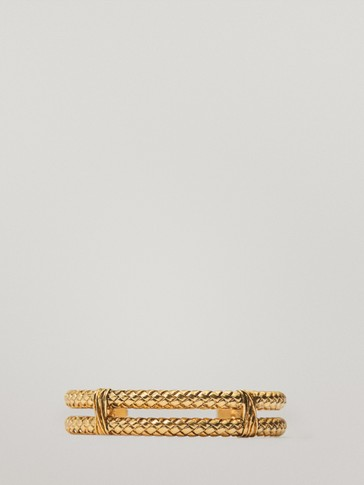 Gold-plated double bracelet