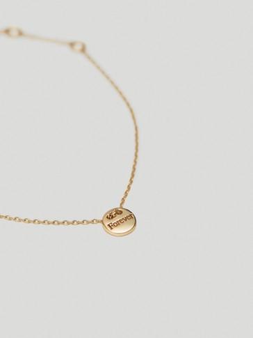 Gold-plated Forever bracelet