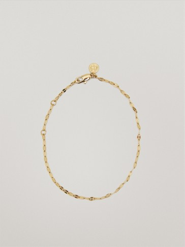 Gold plated waterproof chain bracelet
