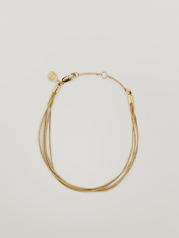 Waterproof gold plated multi-chain bracelet