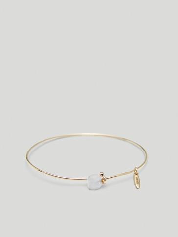 Gold-plated April stone bracelet