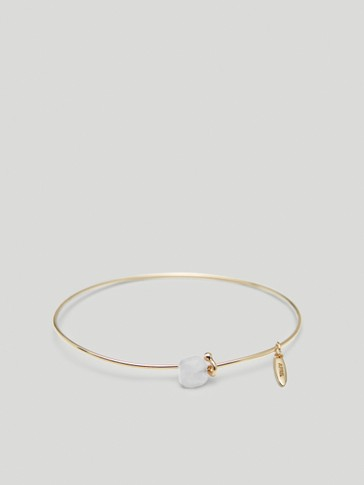 Gold-plated April stone bracelet
