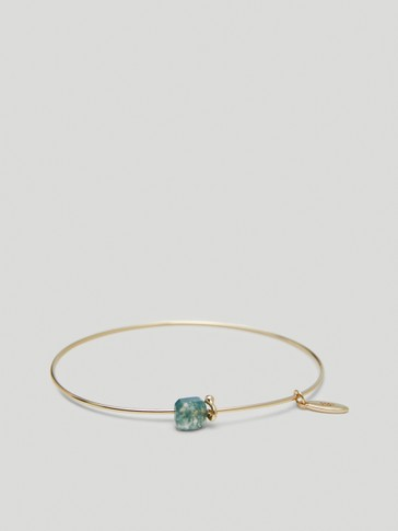 Gold-plated May stone bracelet