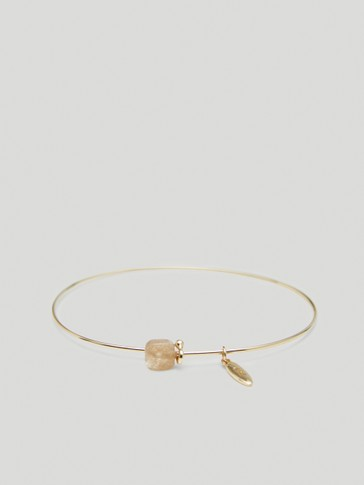 Gold-plated June stone bracelet