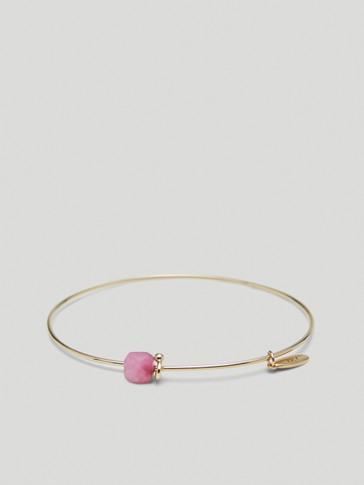 Gold-plated July stone bracelet