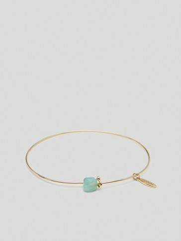 Gold-plated August stone bracelet