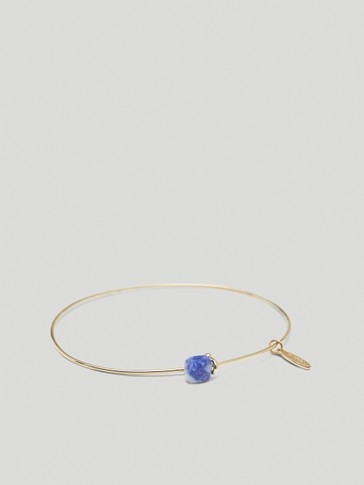 Gold-plated September stone bracelet
