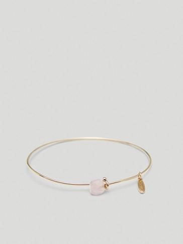 Gold-plated October stone bracelet