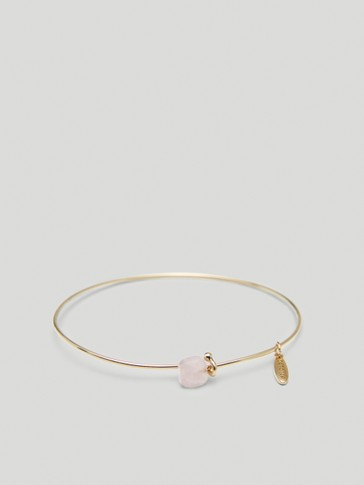 Gold-plated October stone bracelet