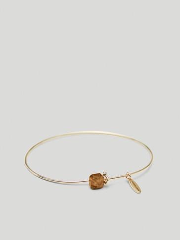Bracelet pierre de novembre en plaqué or