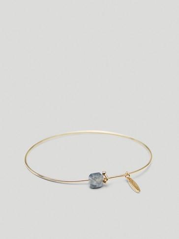 Bracelet pierre de décembre en plaqué or