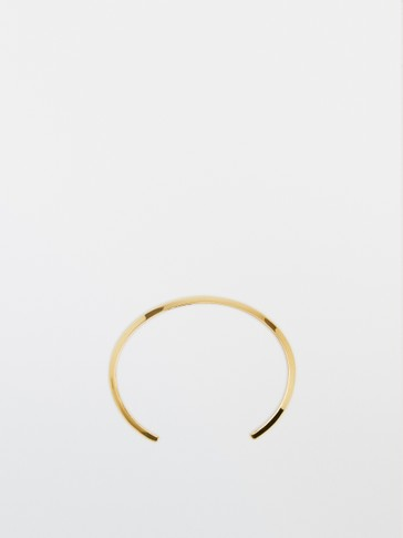 Gold-plated silver rigid bracelet