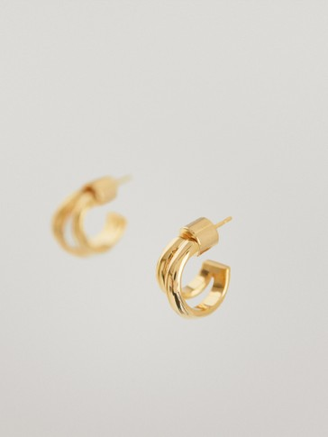 Small gold-plated earrings