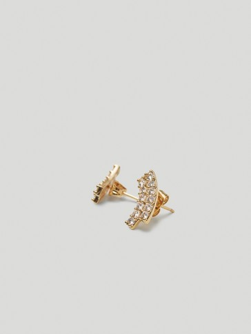 Gold-plated wrap earrings