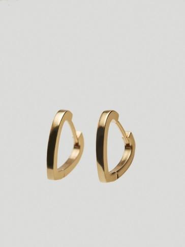 Gold-plated heart earrings