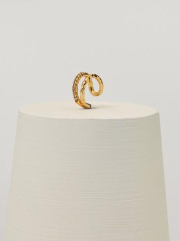 Gold-plated ear cuff earrings