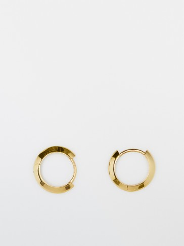 Gold-plated sterling silver hoop earrings