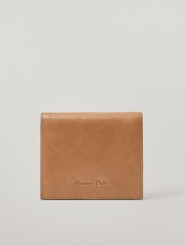 Brieftasche aus Leder mit Reißverschluss