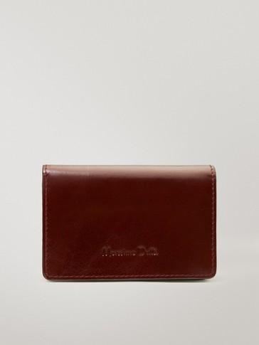 Кожаный кошелек для монет с клапаном