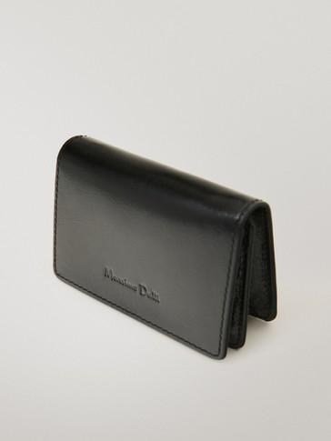 Lederbrieftasche mit Überschlag