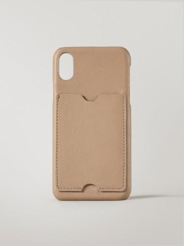 Handyhülle aus Leder für iPhone X/XS mit Kartenetui