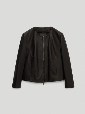 Кожено черно яке от естествена напа