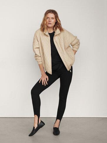 Oversize nappa leather jacket