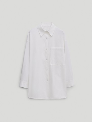 Lang katoenen overshirt - Limited Edition