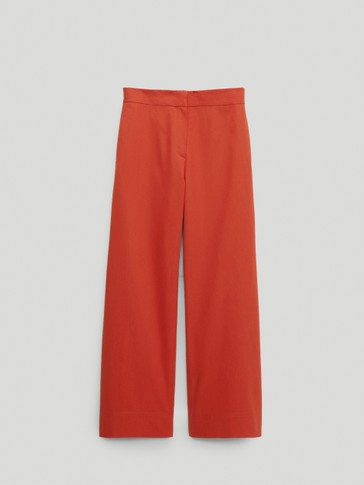 Straight poplin trousers - Limited Edition