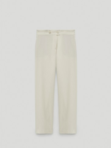 Jogging-fit trousers with an elastic waist