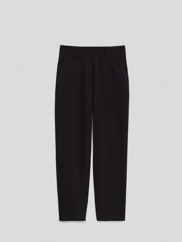 Jogging fit trousers with patch pocket