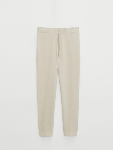 Jogging fit knit trousers