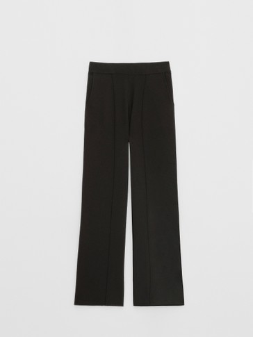 Black knit trousers