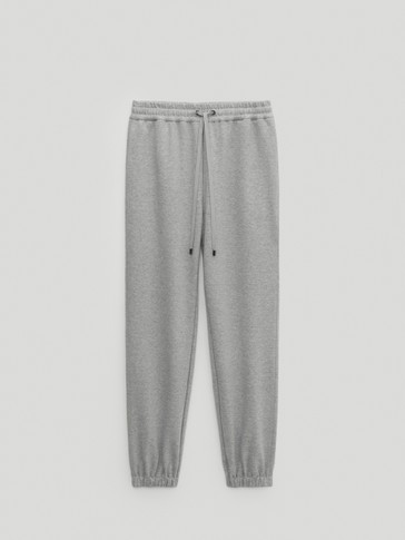 Pantalon élastique bas jogging fit