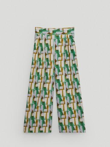 Pantalón culotte estampado