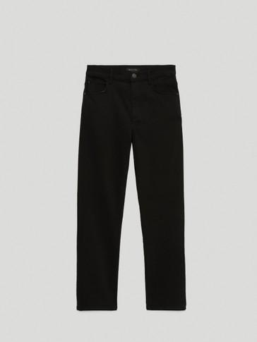 Slim fit broek met hoge taille