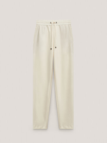 Cotton jogging fit modal trousers