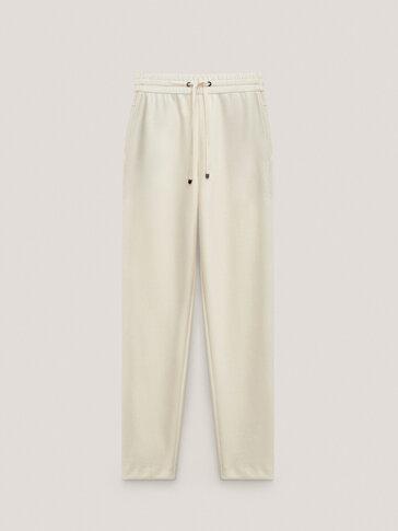Cotton jogging fit modal trousers