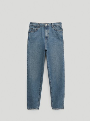 High-waist mom fit jeans