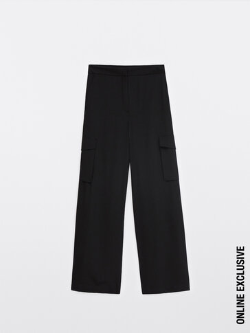 Pantalon cargo fluide